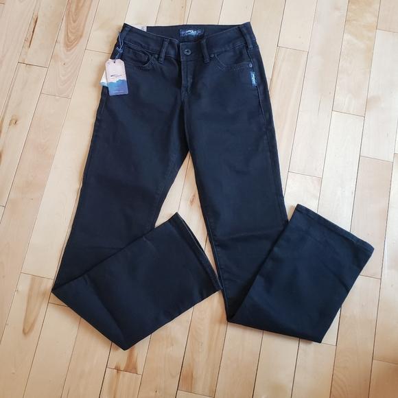 BNWT Silver Suki mid rise boot black size 27 x 33